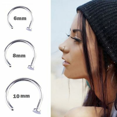 10pc Nasenpiercing Nasenring Fake Nose Hoop Schmuck Klemm Piercing Hufeisen Ring