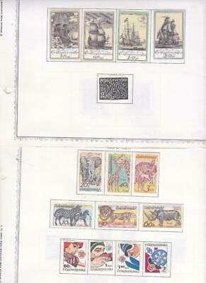 Small Mint Czechoslovakia Collection On Minkus Album Pages (1976-77) - SEE!!!