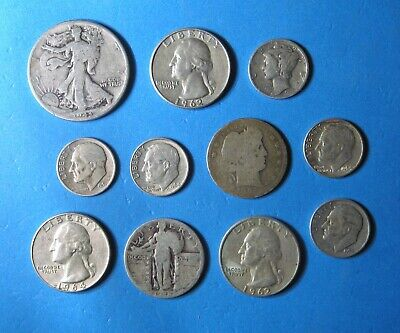 $2.25 Face Value - U.S. 90% Silver Coin Mix - Nice Variety Lot