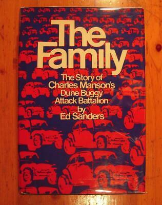 HC/DJ *FIRST ISSUE* THE FAMILY Ed Sanders Charles Manson Banned Process Edition