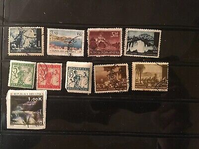 10 All Different Croatia Stamps