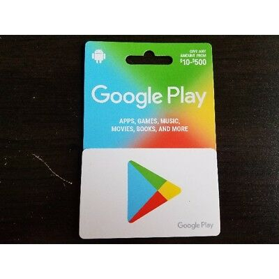 $500 Google Play gift cards