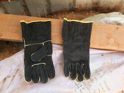 2Pairs of  new Heavy Duty Leather TIG Welding Fire Resistant gloves