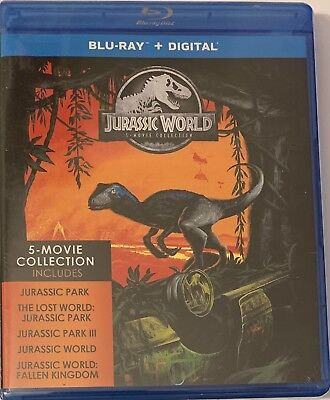 Jurassic World / Park - 5 Movie Collection (Blu-Ray/Digital Set) NEW Sealed