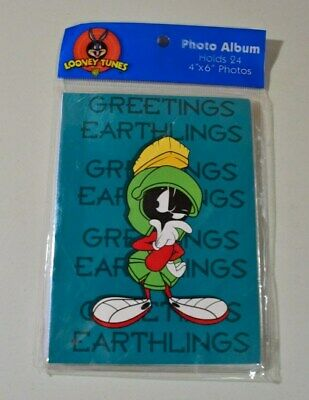 "Looney Tunes Marvin the Martian Photo Album  NEW OLD STOCK 1997 24-4-6/""  Photos"