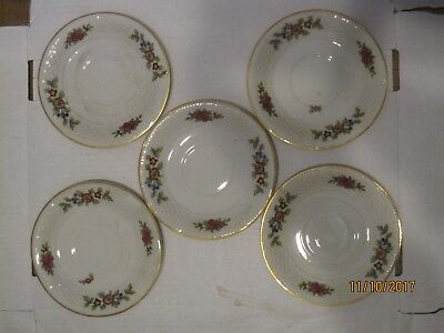 Crown Imperial CIM4 Czechoslovakia 5 Saucers Colorful Bouquets of Flower b12