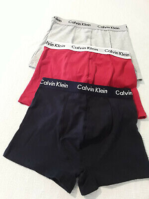 New 3X In A Pack Calvin Klein Mens Underwear Cotton Boxer-Brief Trunk-Multi