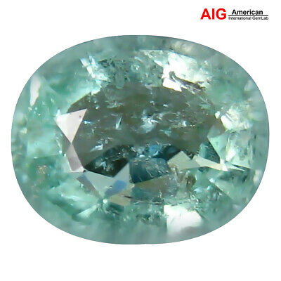"""1.65 ct """"AIG"""" SMALL CERTIFIED 100%NATURAL MOZAMBIQUE GREEN BLUE COLOR PARAIBA"""