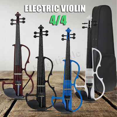 Full Size 4/4 Electric Basswood Violin with Earphone Storage Bag AU