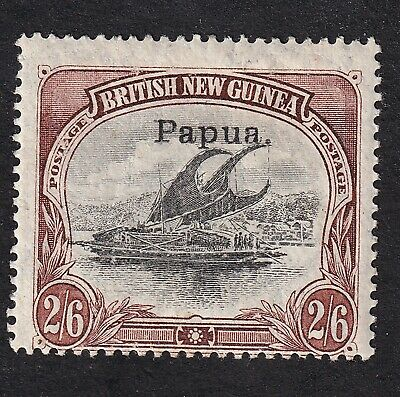 Papua 1907 2/6d black/brown mint hinged