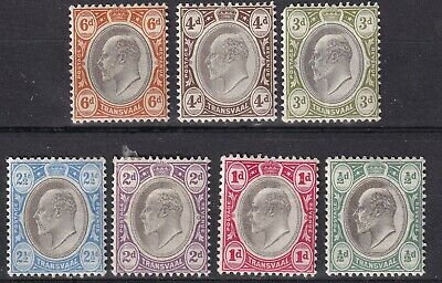 Transvaal 1904  part set of 7 mint hinged