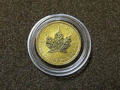 1997 1/10 oz GOLD MAPLE LEAF FAMILY PRIVY 5 DOLLARS 9999 FINE GOLD