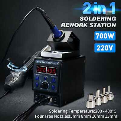 2 in 1 YIHUA 8786D-I Soldering Rework Station Iron ESD Iron Welder Hot Air Gun