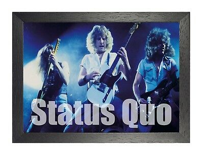Status Quo 6 Anglaise Boogie Rock Band Affiche Musique Étoile Photo Rossi -
