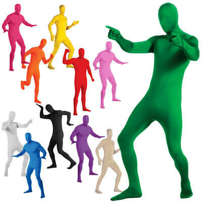 Party Costume Dress Invisible Morph suit Full Body Men Women Spandex 2019