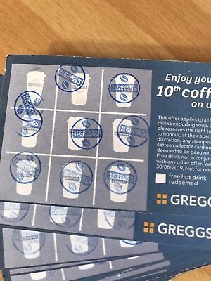 ☆GREGGS☆ 12 Full Cards, Stamped With The Up To Date Blue Stamp
