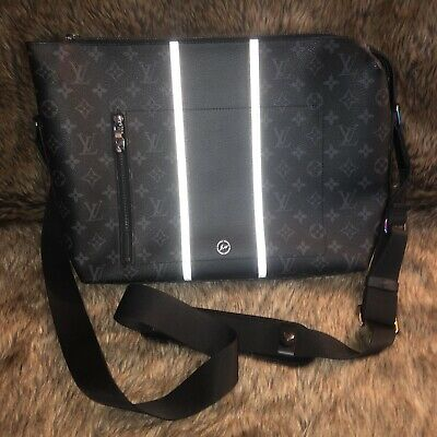 dd8ede0b483f Louis Vuitton X Fragment Shoulder Bag Messenger PM Monogram Eclipse Black