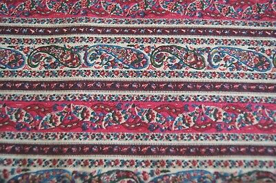 VINTAGE FABRIC REMNANT - Paisley Printed Cotton - 1.5m Wide x 1.6m Long