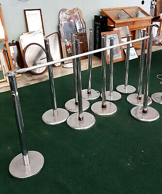 qty chrome public crowd barrier posts - stands & cross bars