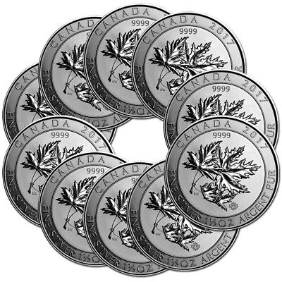 10 x 1,5 oz Silber Multi Maple Leaf (Superleaf) 2017 - Silbermünze 999,9