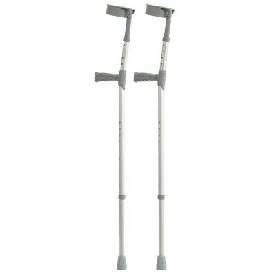 Pair of Elbow Crutches - PVC Handle