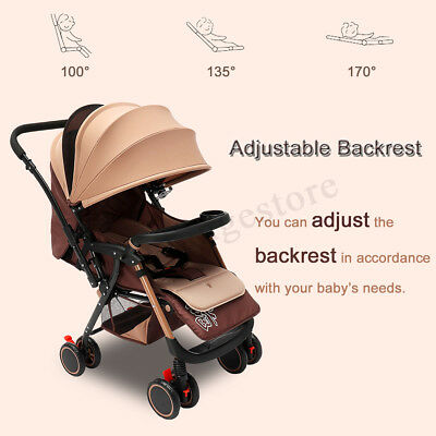 25kg Portable Compact Lightweight Jogger Baby Stroller Pram Travel Carry-on Safe