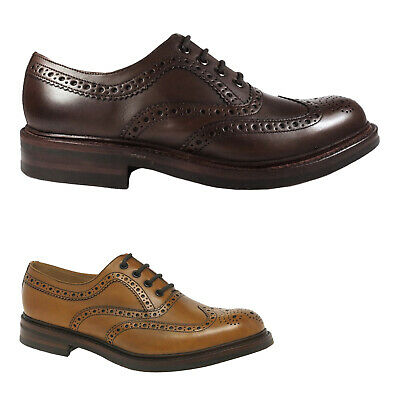 Loake Edward Leather Formal Brogue Wingtip Lace-Up Mens Shoes