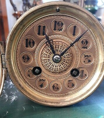 Antique Mantel Clock movement in working order