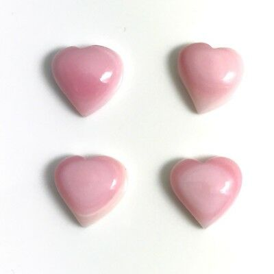 2 PC - Natural Pink Queen Conch Shell 12mm Heart Cab HQ, NEW DIY Bead Design
