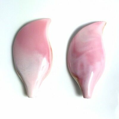 1 PC Natural Pink Queen Conch Shell 18 x 38mm Petal Carving- New DIY Bead Design