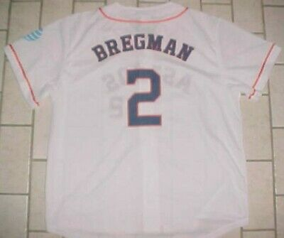 Alex Bregman  2 Houston Astros MLB AL AT T Promotion White Orange Blue  Jersey XL d5a9de785