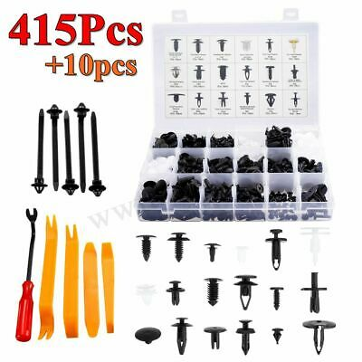 415Pcs Car Body Pin Rivet Fasteners Trim Panel Moulding Clip & Tools For Ford