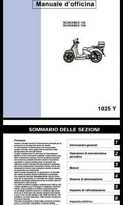 manuale officina (ITA-ENG) Aprilia SCARABEO 125-150 ROTAX  (2000)work manual