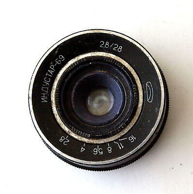 Industar-69 2.8/28mm Black  - for L39