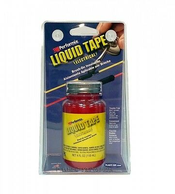 Performix LET14Z01 - RED Liquid Electrical Tape. 4 Oz Bottle w/ Self-App Brush