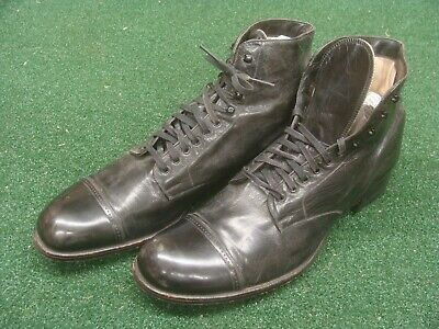 Antique Victorian HAMILTON BROWN - American Gentleman ankle high shoes 9 narrow