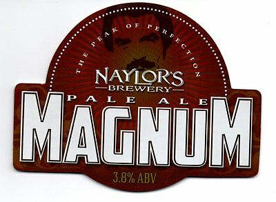 Beer pump clip front, NAYLOR'S BREWERY MAGNUM PALE ALE.