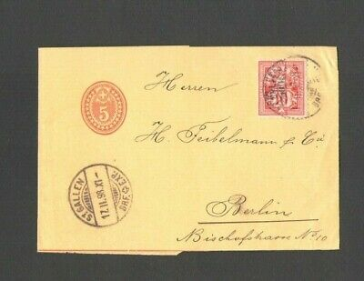 Switzerland 1898 mini cover to Berlin from St. Gallen