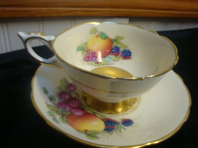 Royal Stafford Harvest Pattern Bone China Cup And Saucer - England