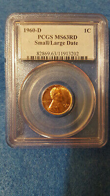 1960-D Lincoln Cent MS 63 Red Small/Large Date – PCGS #11913202