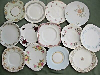Selection Of Vintage Cake/bread & Butter Plates