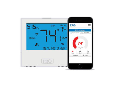 Pro1 - T855i - Progammable or Non-Programmable Wi-Fi Thermostat 4H/2C