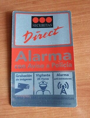 Pegatina Disuasoria de Alarma Securitas Direct