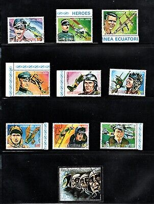 Hick Girl Stamp- Used Equatorial Guinea  Stamps  Aviation Heroes      L773