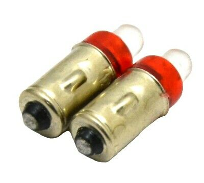 LED light bulbs(2) red 1274 clock dash bulb 1 contact base 12V for Peterbilt