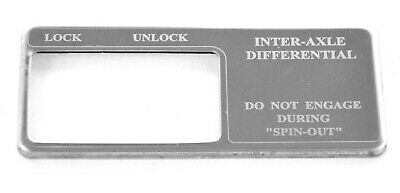 Dash plate Inter-Axel differential SS etch block letter for Freightliner century
