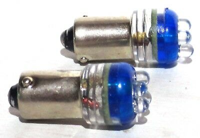 bulbs LED 1893 blue 4 micro diode for older Peterbilt Kenworth dash (2 per pkg)