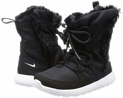 detailed pictures 56071 a9318 NEW NIKE ROSHE One HI Flash PSV 3Y Youth Girls Sz 3 Boots Black Winter  807740