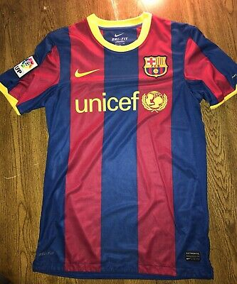 34fc7d0b8 Barcelona FC Lionel Messi 10 Qatar Airways Jersey ADULT MEDIUM NICE WOW.