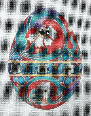 HP Needlepoint Canvas: Asian Easter Egg
